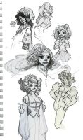 sketches 2 by Sally-Avernier