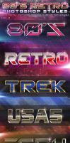 80's Retro Photoshop Styles Pack 4 by KoolGfx