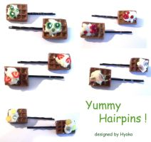 waffle hairpins by Hyo-pon