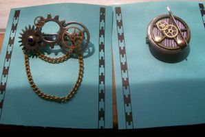Steampunk Pins by LoupGarou-Isis