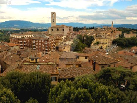 Perugia Rooftops by Kevin-Welch