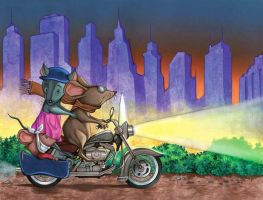 Motorcicle mice by ELOart