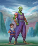 Piccolo and gohan tag team by Benjie-art