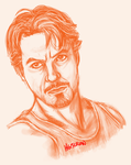 Tony Stark - Robert Downey Jr by Hexterian
