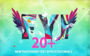 20+ New Photoshop Text Effect Tutorials by Designslots