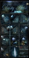 Dusty Attic backgrounds by moonchild-ljilja