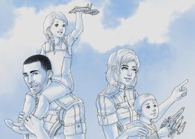 Mass Effect 3 Them Kids by pen-gwyn