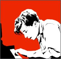 Glenn Gould pianist stencil by andustar