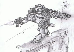 Space marine guy with gun by Super-Wooper