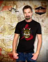 Japanese Demon T-shirt by johnnyspadewear