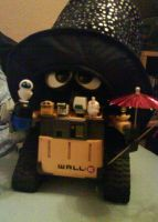 Wall-E is ready for t New Year by Herure