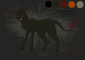 Luna Character Sheet by InkyShade