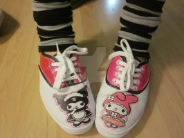 Kuromi and My Melody Oxfords by Mickeybabz