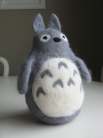 Felted Wool Totoro by mrskupe