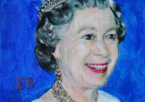 Queen Elizabeth II by EvelineVdp