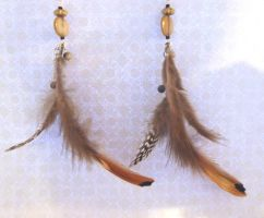 Feathers Earrings - Nature collection by Lincey