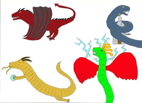 Mythical Creatures- Dragons by Tarturus
