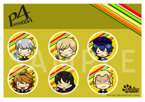 Persona 4 Button by VernCode
