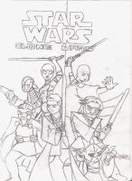 Star Wars Clone Wars by AnonTheDarkOne