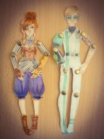 ADOPTABLES: Steampunk and Cyber by Rinhajay