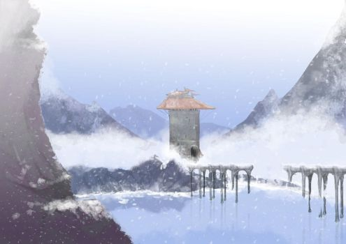 Ice lake point by dommi-fresh