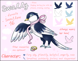 Swally - Reference Sheet by Fayven