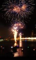 Fireworks over the City - Brisbane III by Squiddgee7734