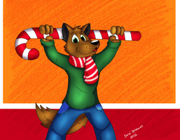 CANDY CANE!!!!!! by theKatandtheBox