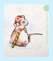 Christmas Rat by LunaDiCarlo