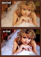 Katie Bridal. Before and After by thebryancrump