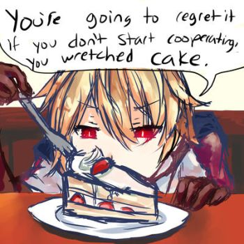 Silent Treatment From A Cake by Castellapocalypse