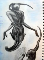 Close-up of Giger ladies 2 by Darkmoonlilly