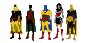 My Dc Reboot Earth 2 Lineup 2 by jsenior
