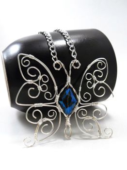 Wire Wrapped Butterfly in  Sterling Silver by SerenityinChains