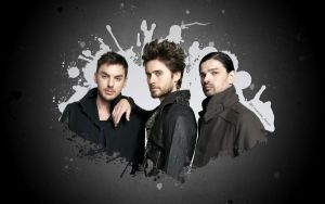 Simple 30 Seconds To Mars Splatter Wallpaper by lovelives4ever