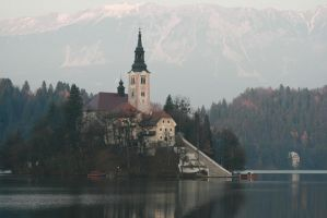 The Castle On The Lake by Banana-Workshop
