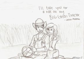 Big Green Tractor by chloisssx3