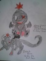 Damon the Beast Chao by melodiavalentine