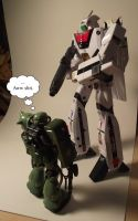 Zaku Meets Veritech by Kjasi