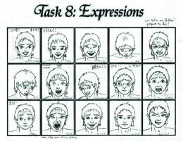 Task #8: Facial Expressions by ryuusei86