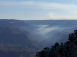 Smoke Filled Canyon 1 by borgking001a
