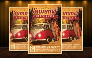 Summer Beach Party Flyer by MatteoGianfreda94