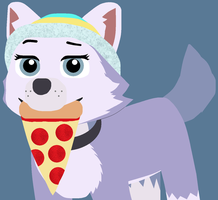 She Likes Pizza by saffronpanther
