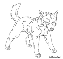 Angry Dog Template by KasaraWolf