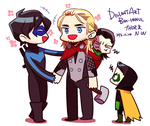 Thor and Nightwing by BAK-Hanul