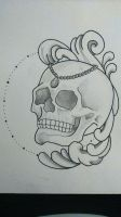 skull by armoire