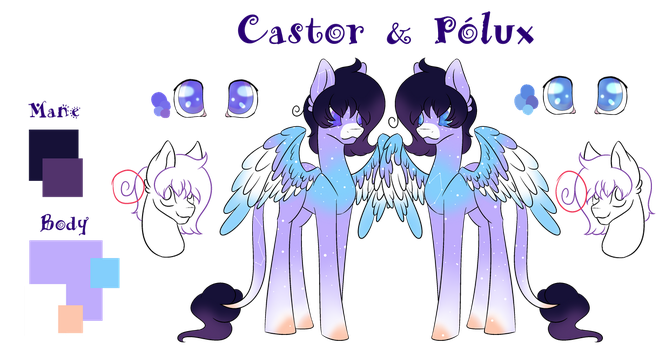 Castor and Polux by WasatGemini