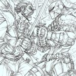 Ra's vs Deathstroke : a coloring step by step by arf