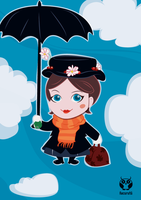 Mary Poppins by irenechapez