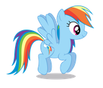 Hovering Dashie by Chubble-munch